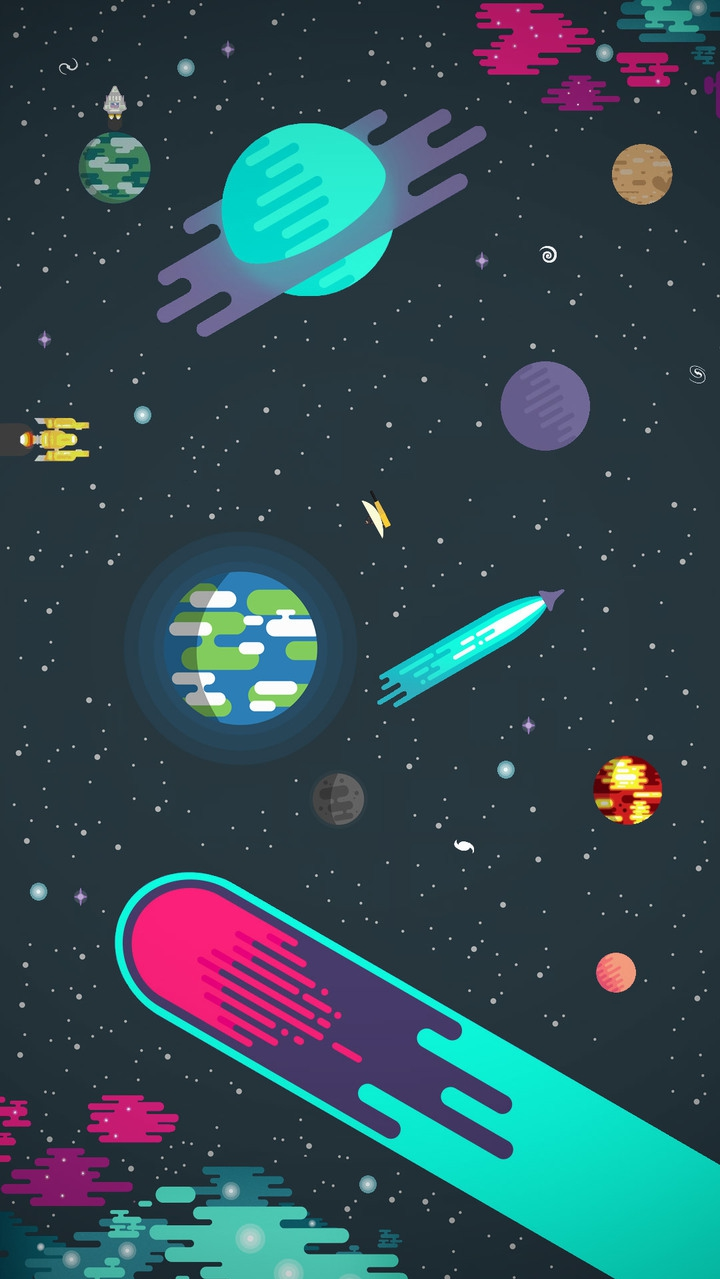 Space Art Planets Galaxy Stars iPhone Wallpaper iphoneswallpapers com