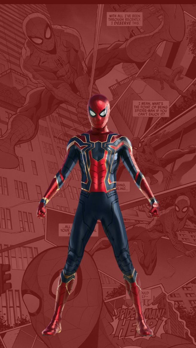 Spider Man New Suit Tom Holland iPhone Wallpaper iphoneswallpapers com