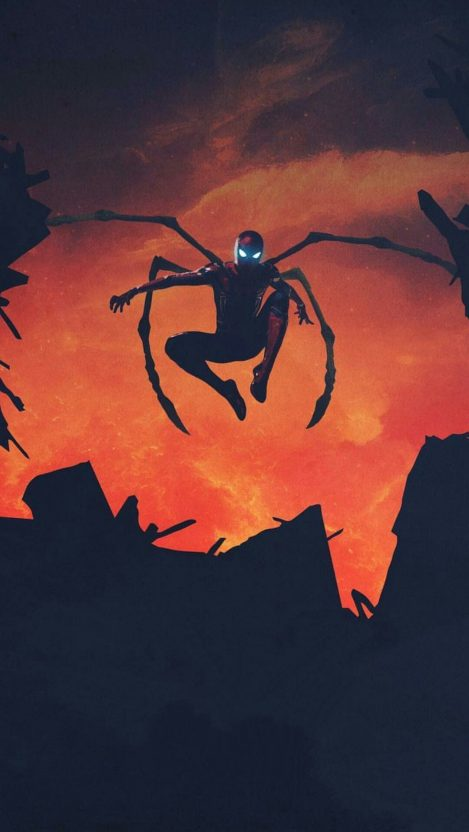 Spiderman Avengers Iron Spider Suit iPhone Wallpaper iphoneswallpapers com
