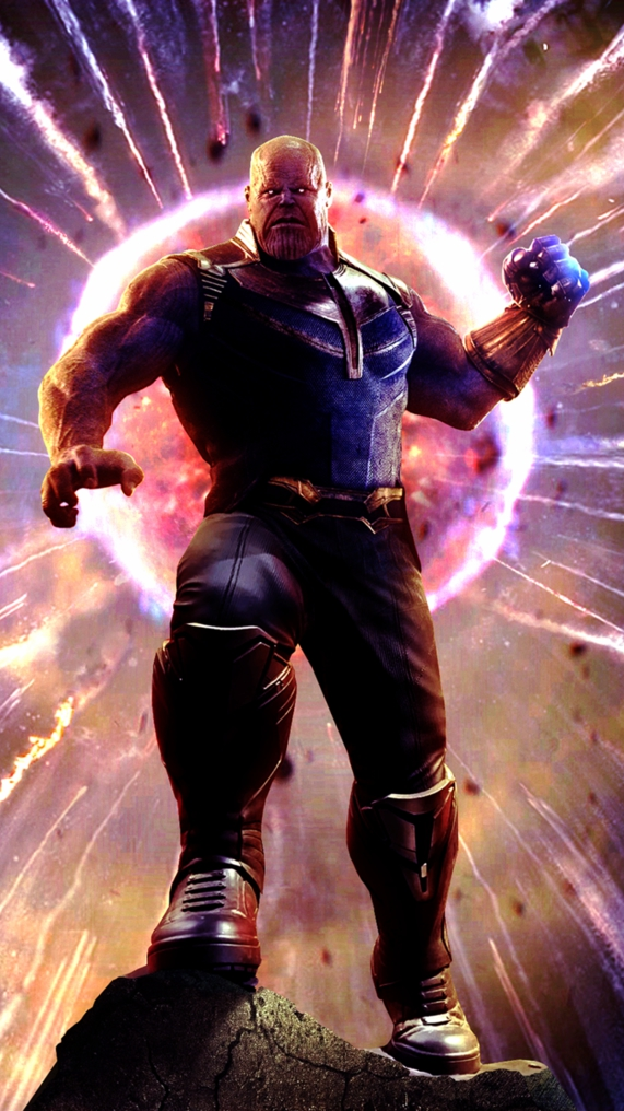Thanos Pulled the Moon Avengers iPhone Wallpaper iphoneswallpapers com