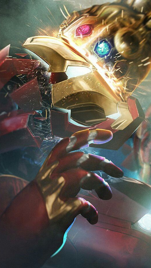 Thanos Punch IronMan iPhone Wallpaper iphoneswallpapers com