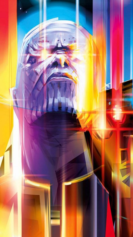 Thanos With Infinity Stones Art iPhone Wallpaper iphoneswallpapers com