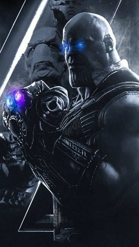 Thanos With Infinity Stones Avengers iPhone Wallpaper iphoneswallpapers com