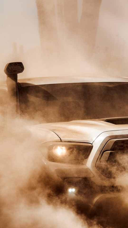 Toyota Tacoma TRD Pro Dust iPhone Wallpaper iphoneswallpapers com