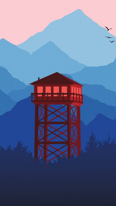 Watch tower minimal hd HD iPhone Wallpaper iphoneswallpapers com