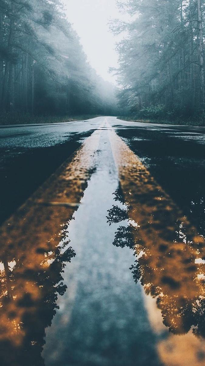 Water on Road iPhone Wallpaper iphoneswallpapers com