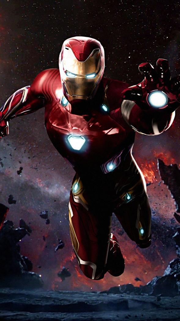 iron man infinity war Armour Suit in Space iPhone Wallpaper iphoneswallpapers com