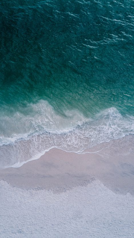 Aerial View Ocean Water Beach IPhone Wallpaper