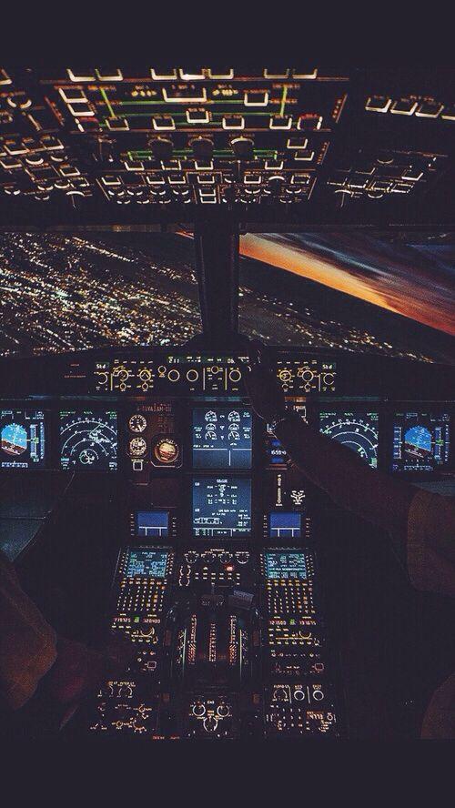 Airplane Cockpit iPhone Wallpaper