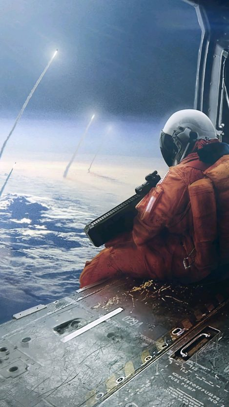 Astronaut Soldiers Space Warfare iPhone Wallpaper iphoneswallpapers com