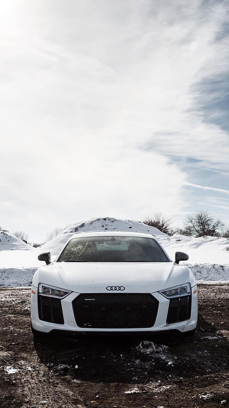 Audi R8 White iPhone Wallpaper