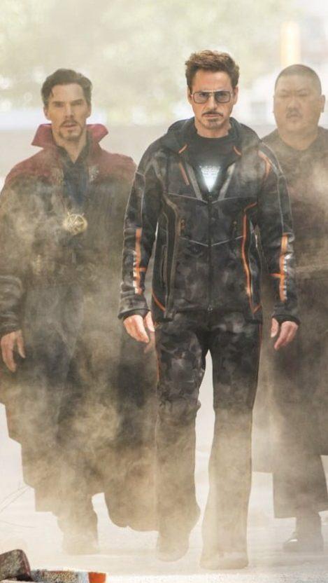 Avengers infinity War Tony Stark and Doctor Strange iPhone Wallpaper iphoneswallpapers com