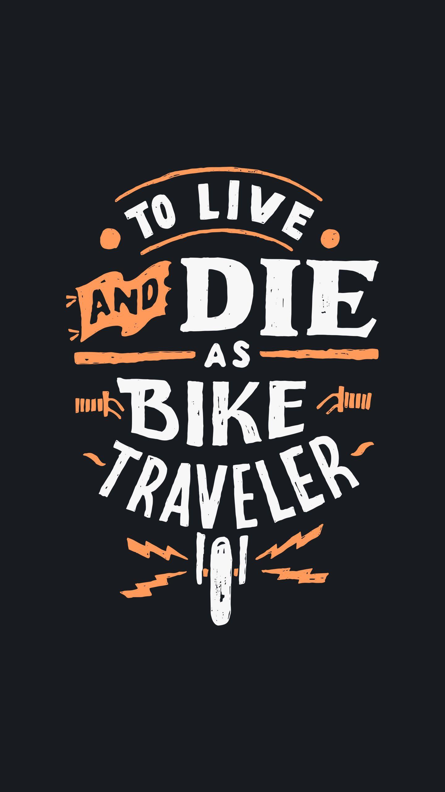 Biker Quote iPhone Wallpaper