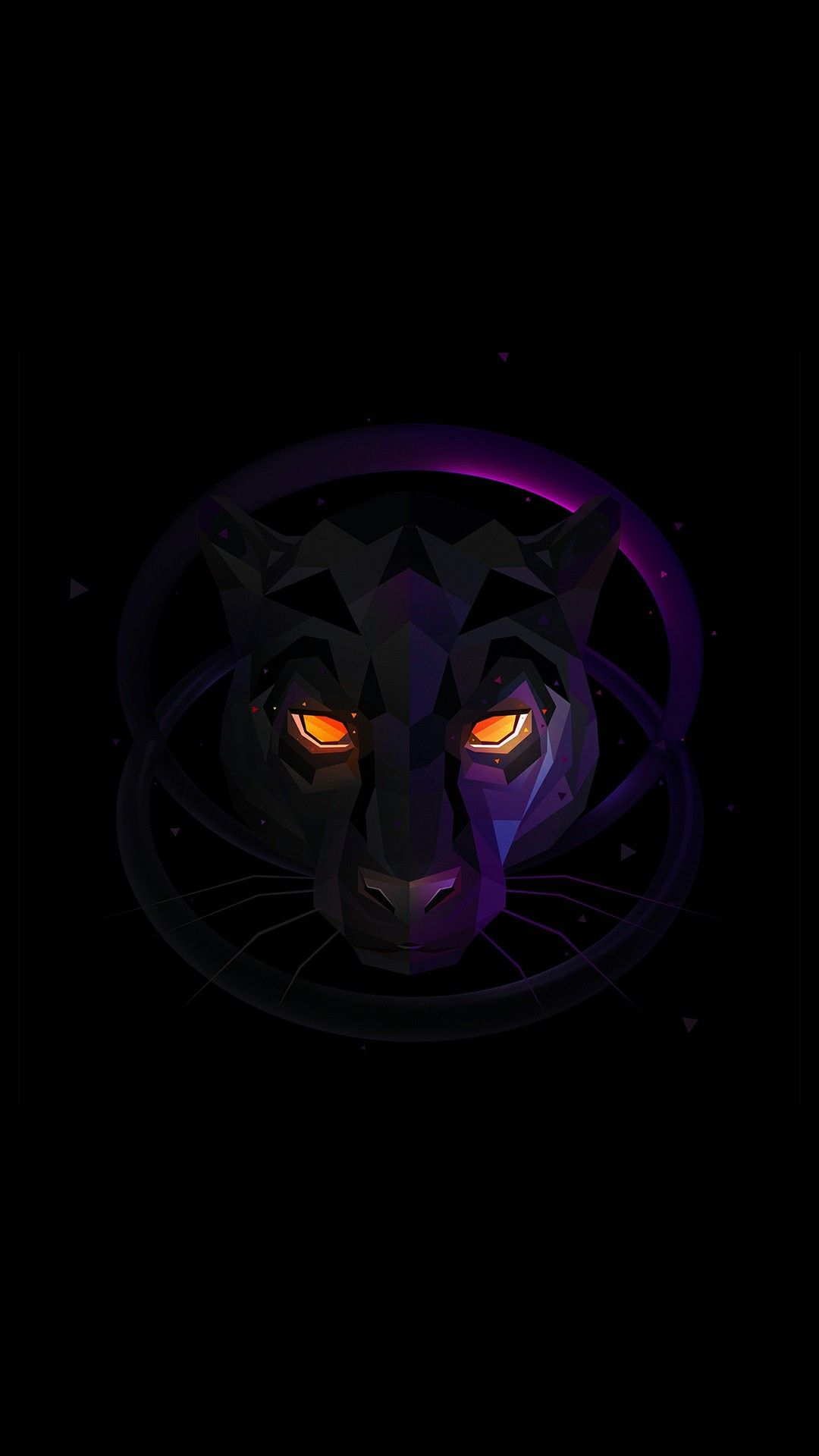 Black Panther Eyes Minimal iPhone Wallpaper iphoneswallpapers com