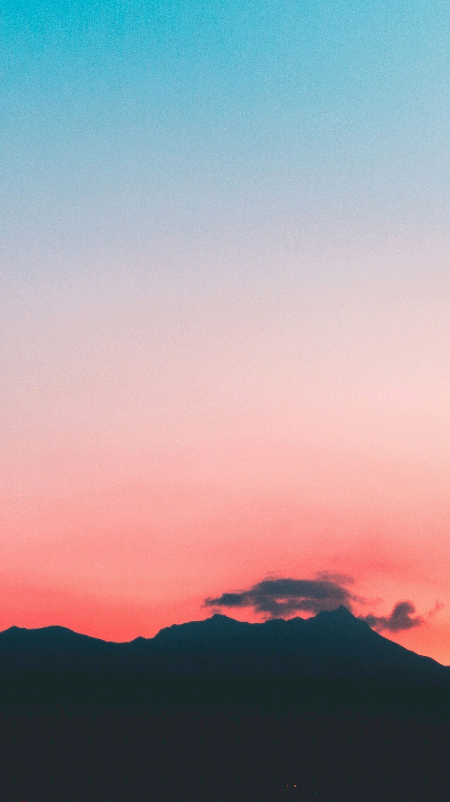 Blue Sky Clouds Mountains Sunrise iPhone Wallpaper iphoneswallpapers com