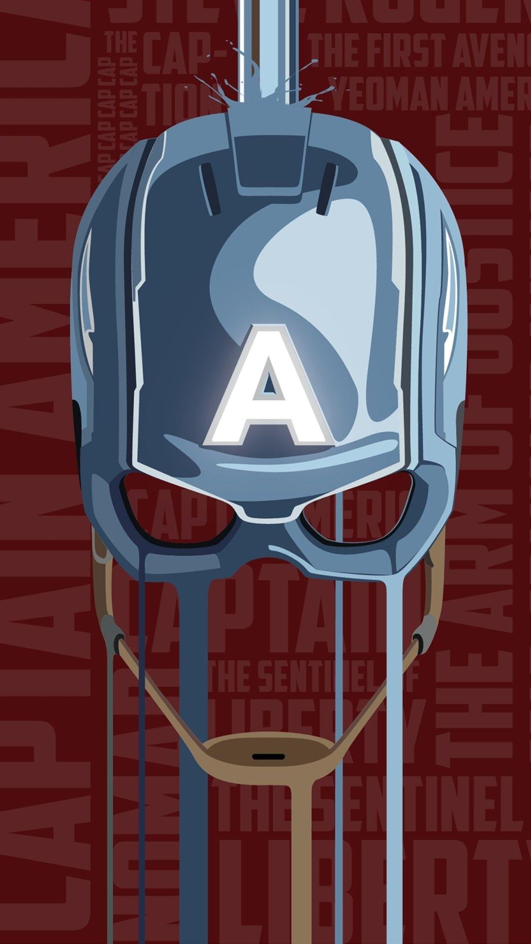 Captain America Helmet iPhone Wallpaper