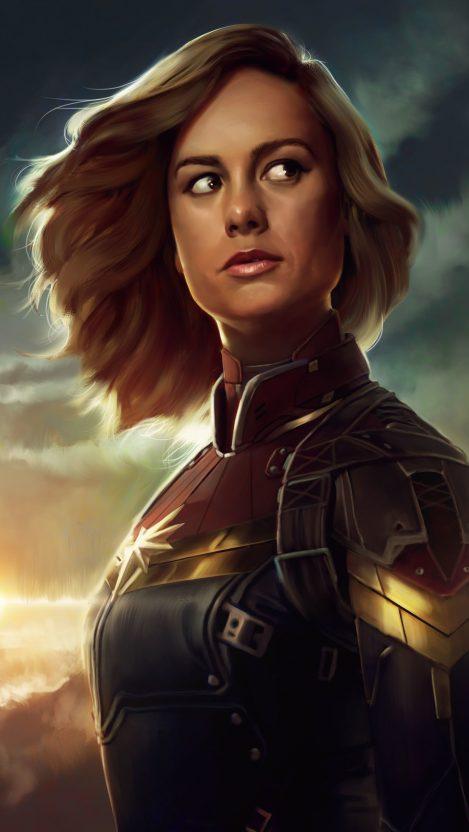 Captain Marvel Avengers iPhone Wallpaper iphoneswallpapers com