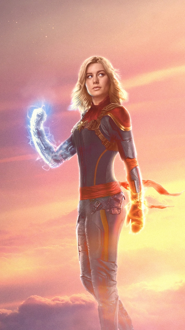 Captain Marvel Brie Larson Avengers iPhone Wallpaper iphoneswallpapers com