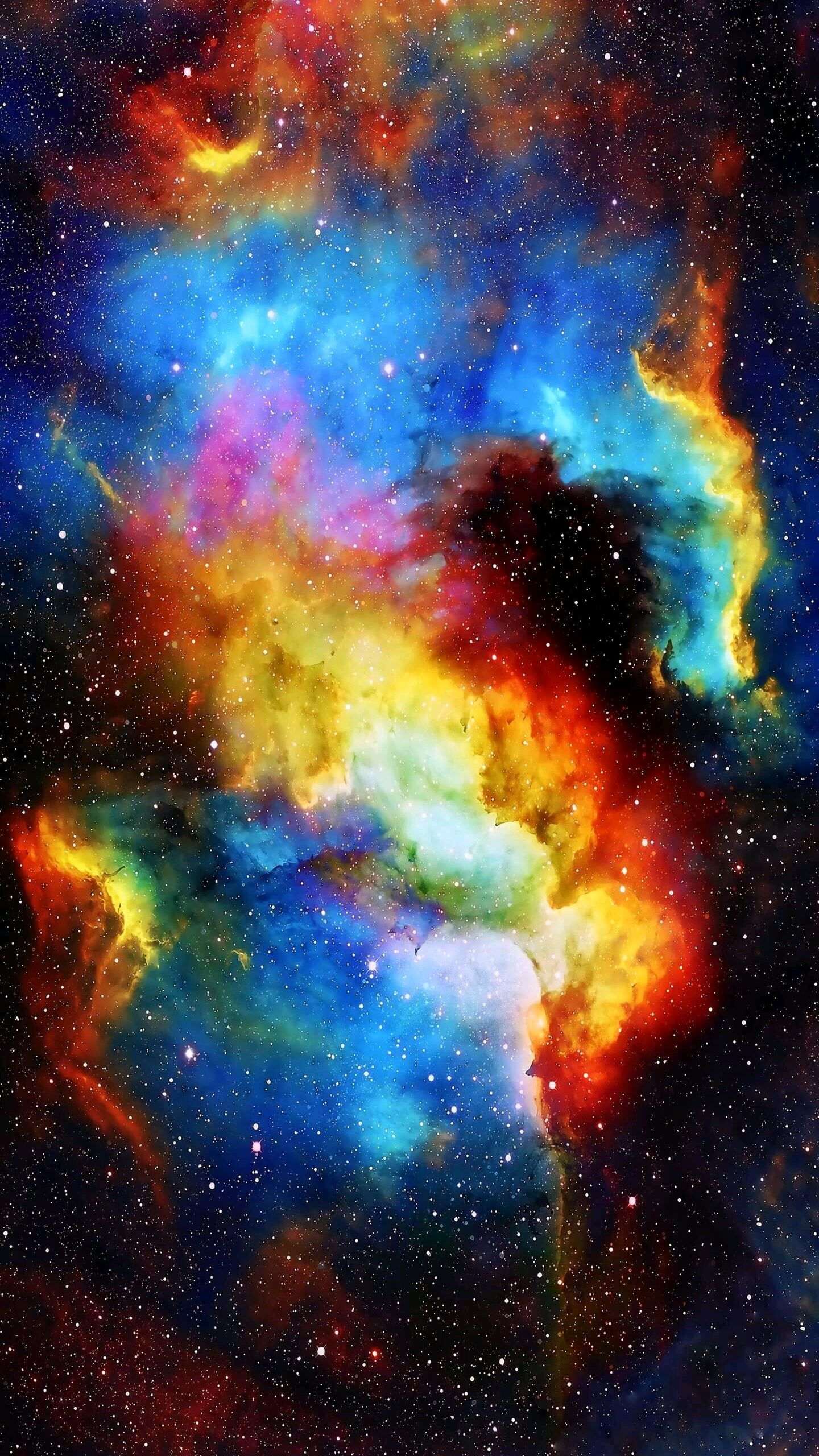 Colorful Galaxy Nebula Space iPhone Wallpaper iphoneswallpapers com