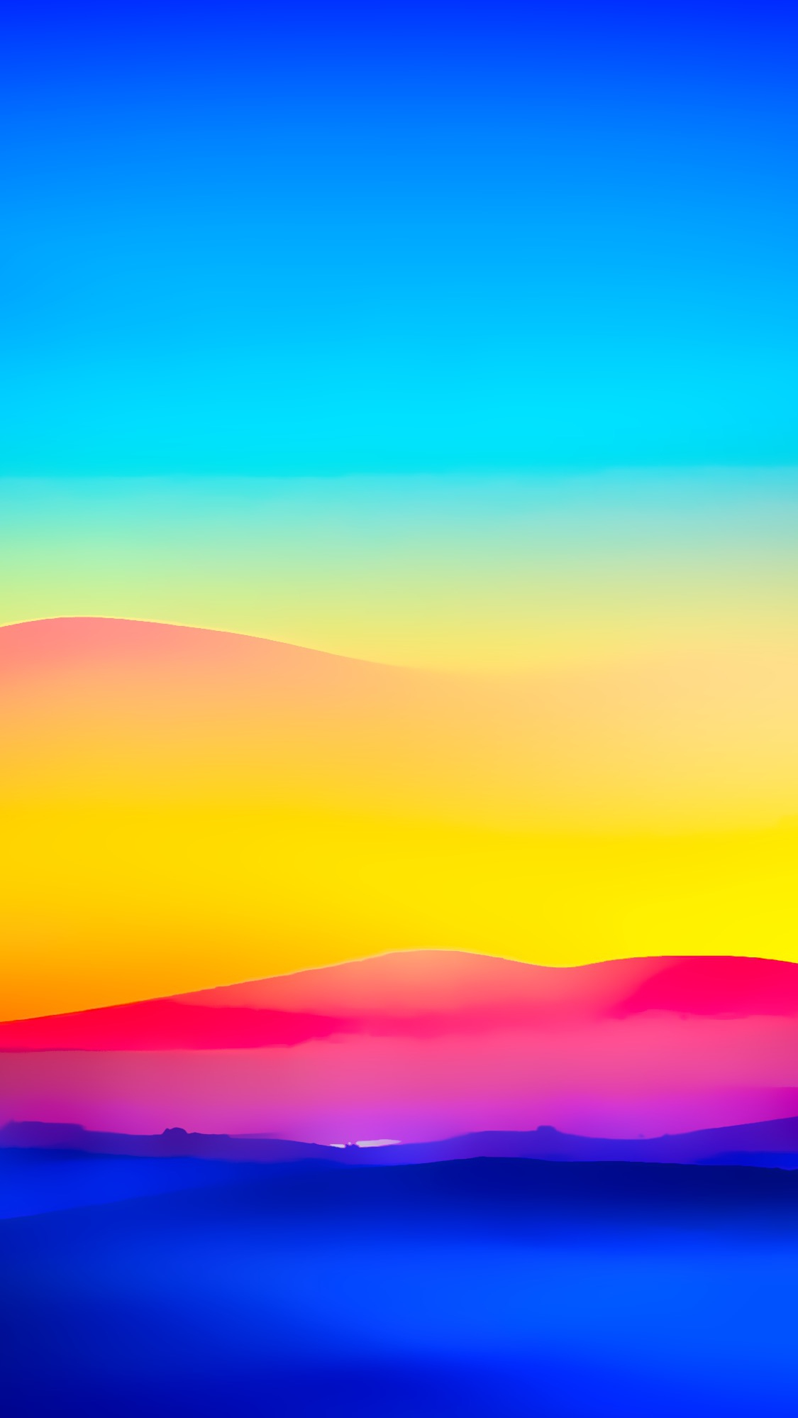 Colorful Sunrise Nature Mountains iPhone Wallpaper iphoneswallpapers com