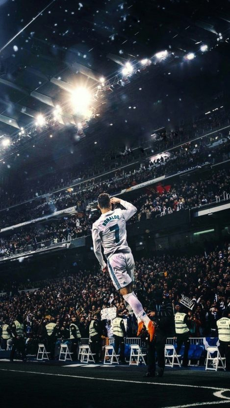 Cristiano Ronaldo Football Goal Celebration iPhone Wallpaper iphoneswallpapers com