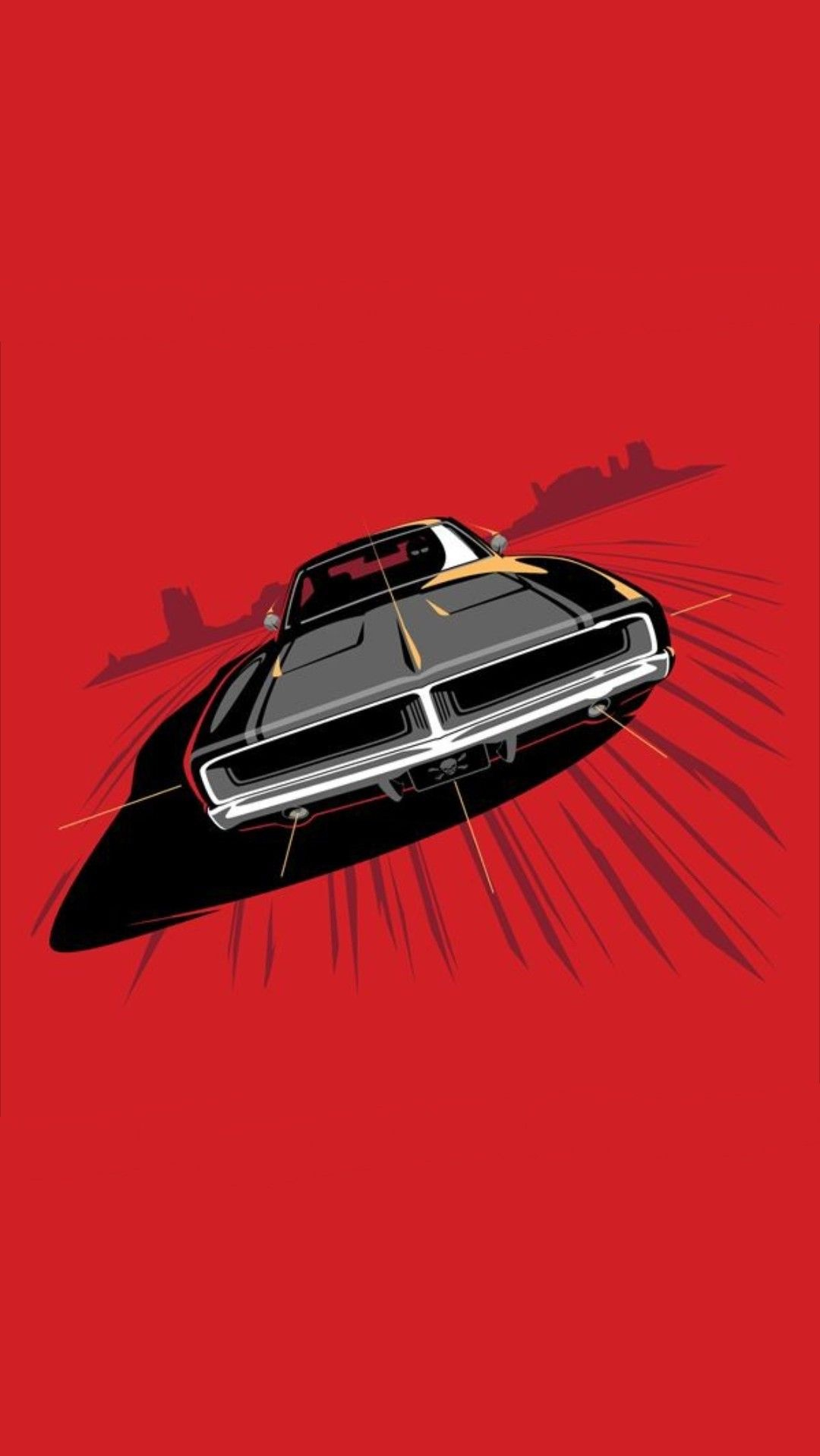 Dodge Charger Speed Minimal Iphone Wallpaper
