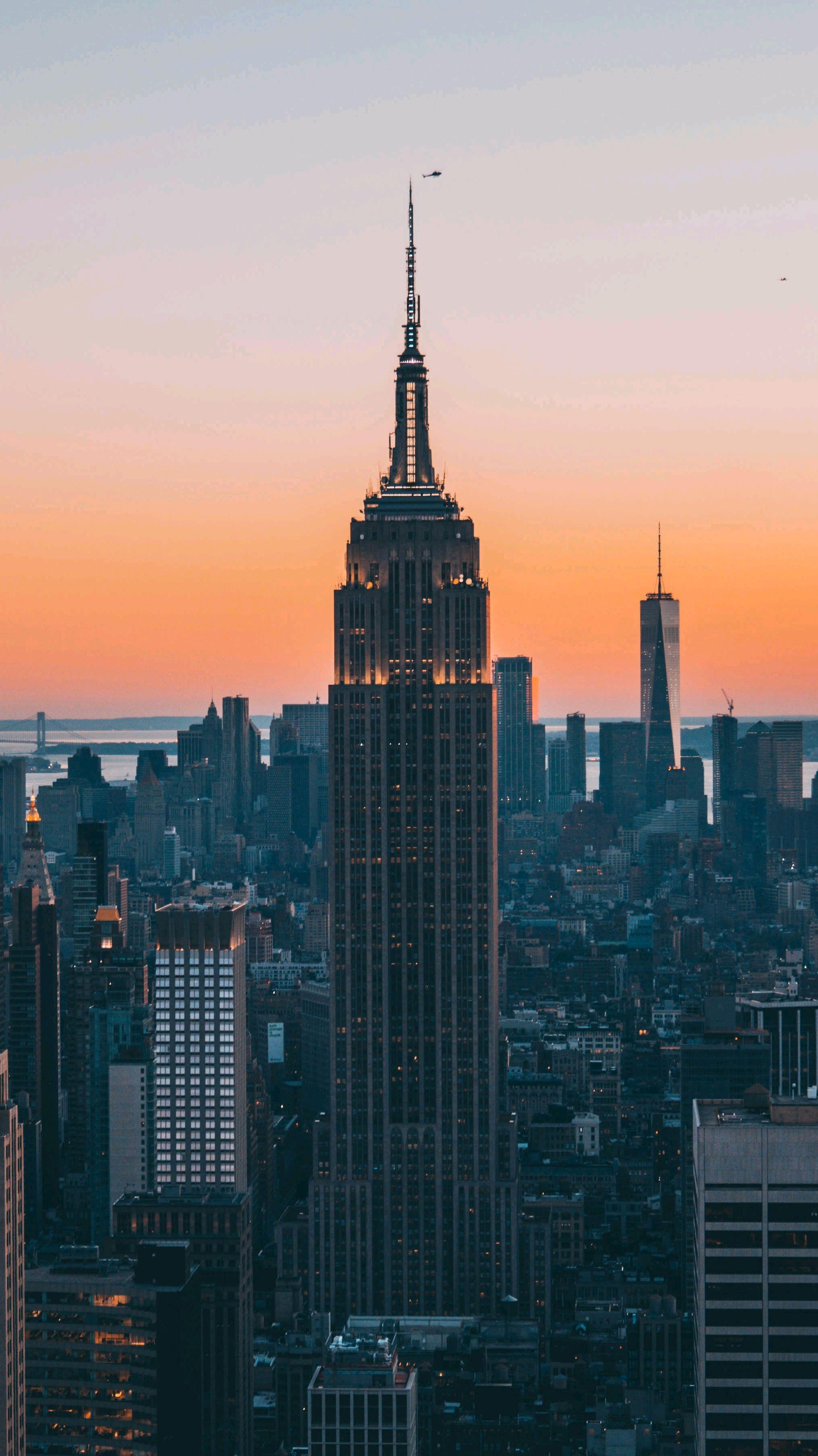 Empire State Building New York Evening iPhone Wallpaper iphoneswallpapers com