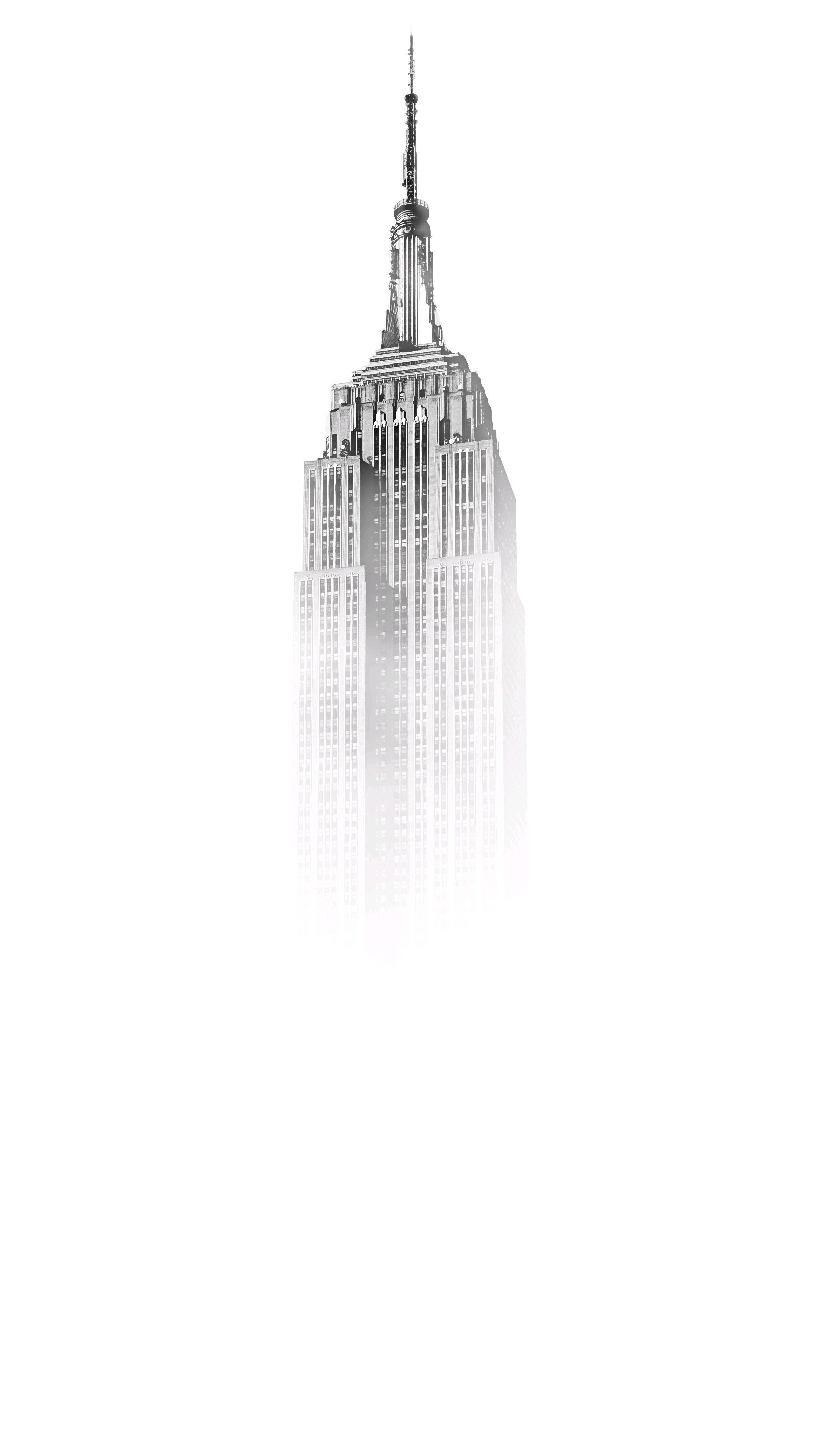 Empire State Building Wide Minimal Wallpaper iPhone Wallpaper iphoneswallpapers com