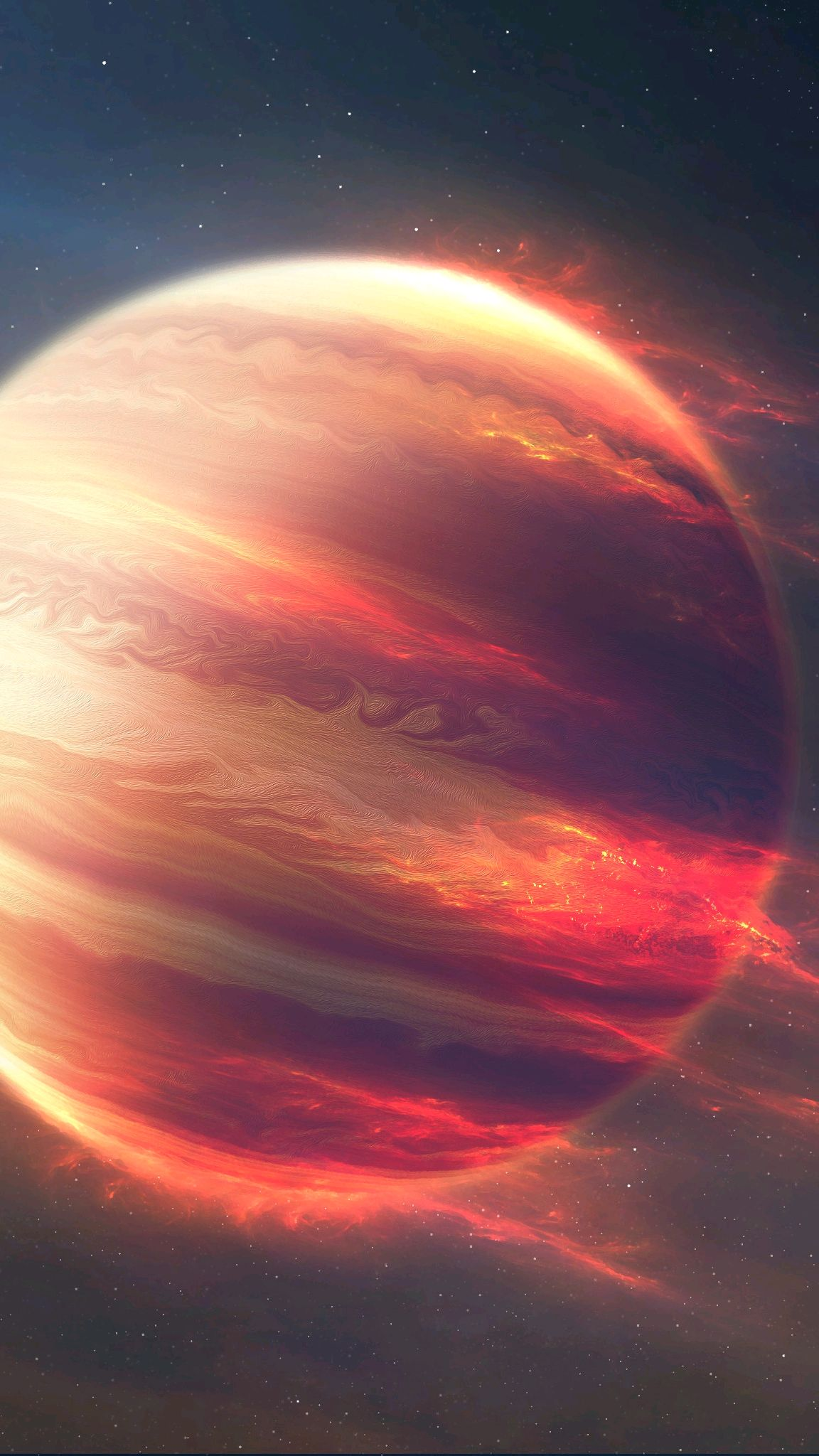 End of Jupiter Space iPhone Wallpaper iphoneswallpapers com