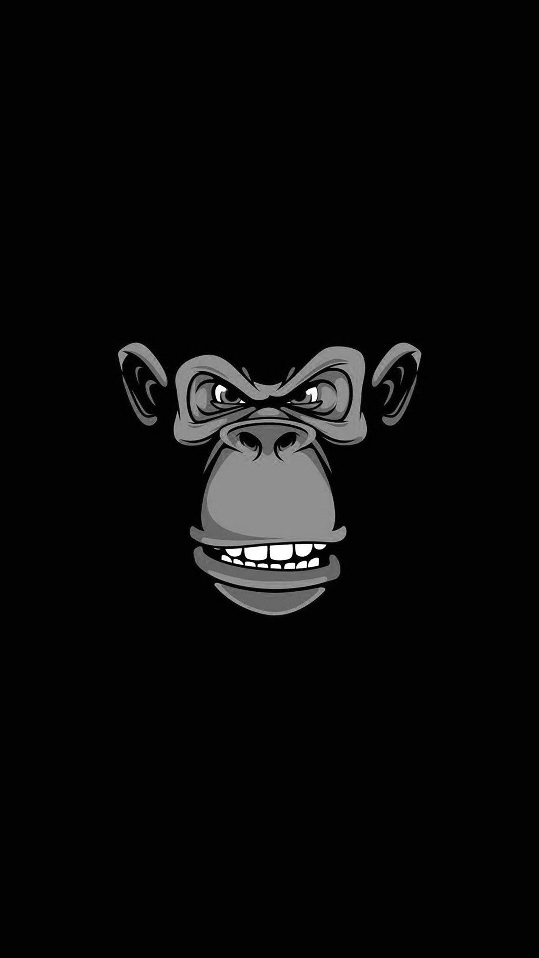 Evil Monkey iPhone Wallpaper