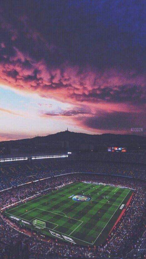 Football Stadium Clouds iPhone Wallpaper iphoneswallpapers com