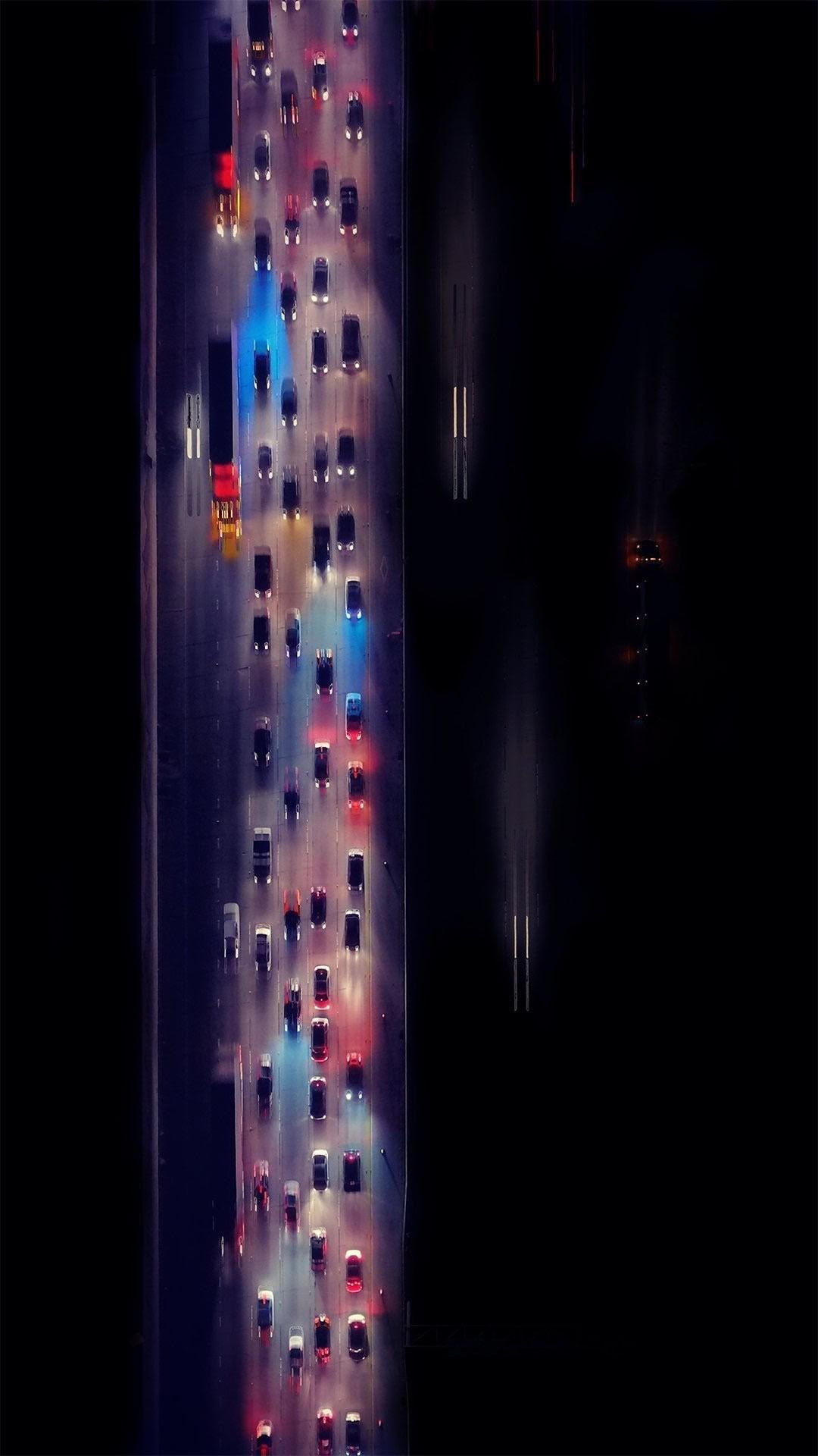 Freeway Highway Aerial View iPhone Wallpaper