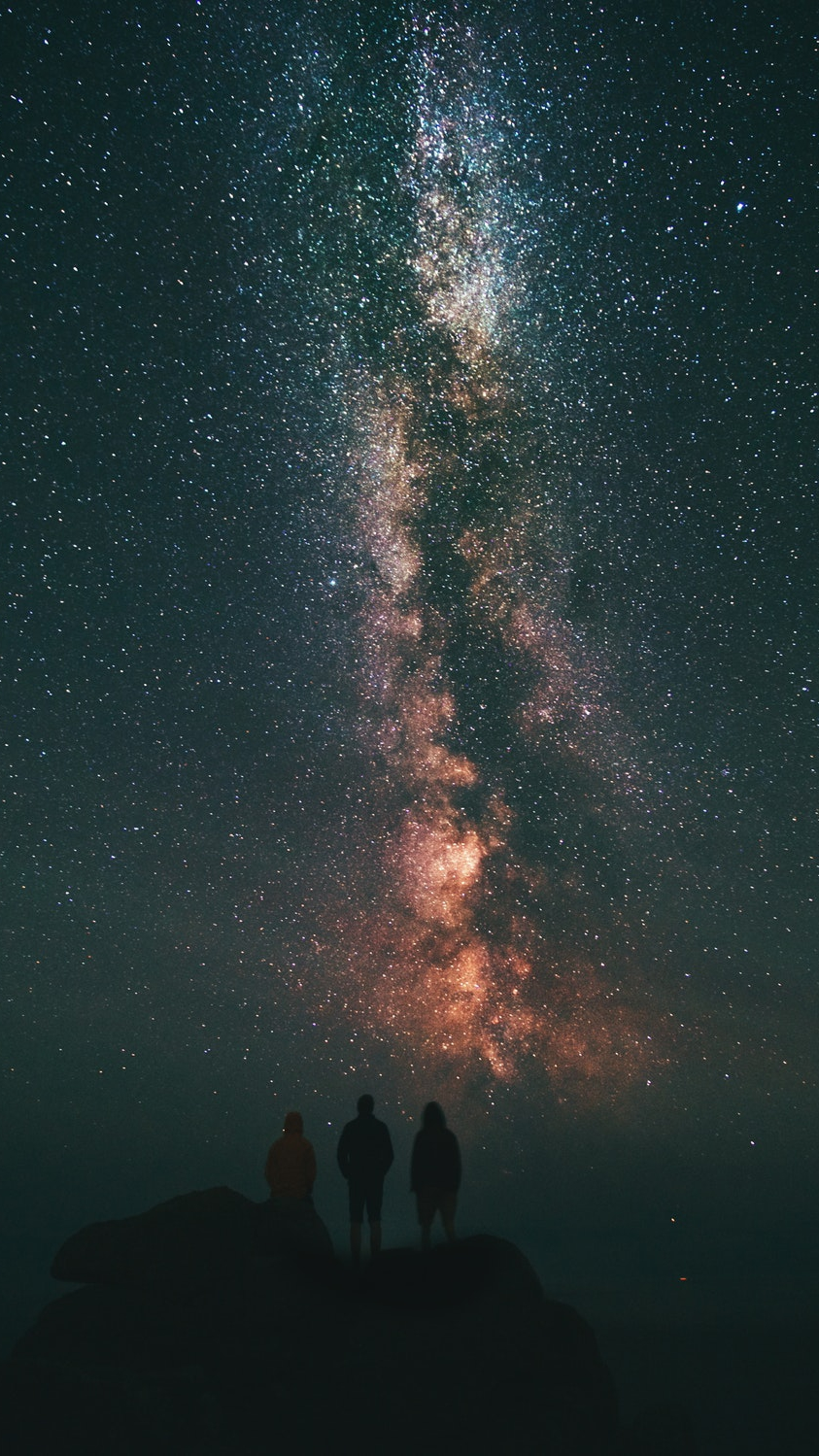 Galaxy Stars View From Earth Adventure People iPhone Wallpaper iphoneswallpapers com