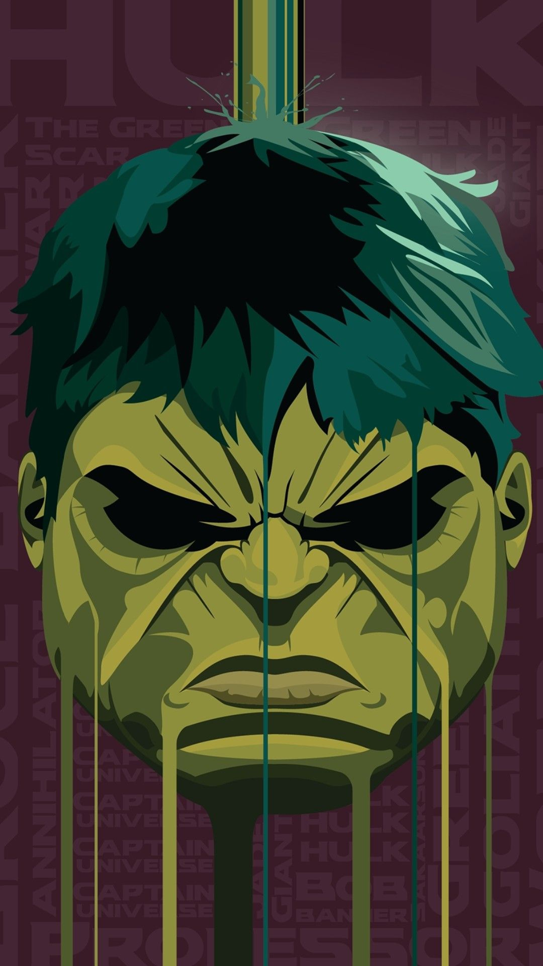 Hulk Face iPhone Wallpaper iphoneswallpapers com