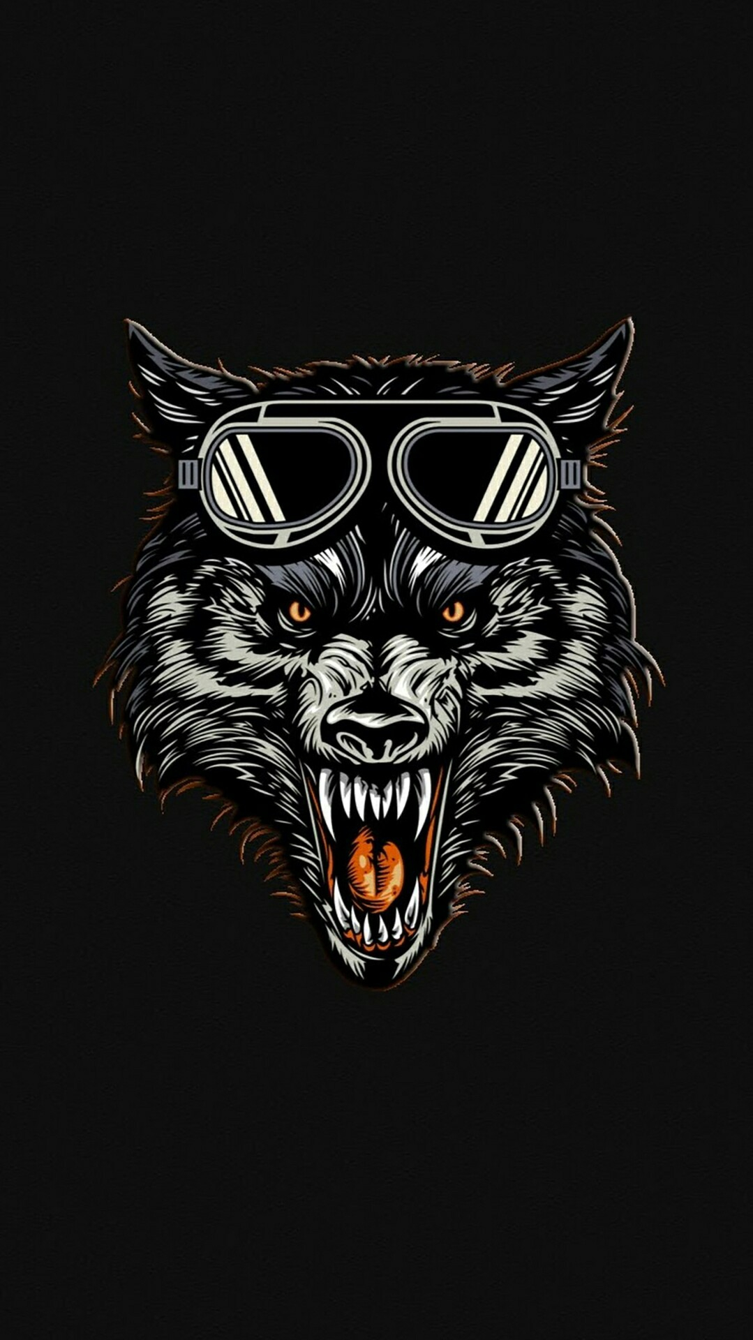 Hungry Wolf iPhone Wallpaper iphoneswallpapers com
