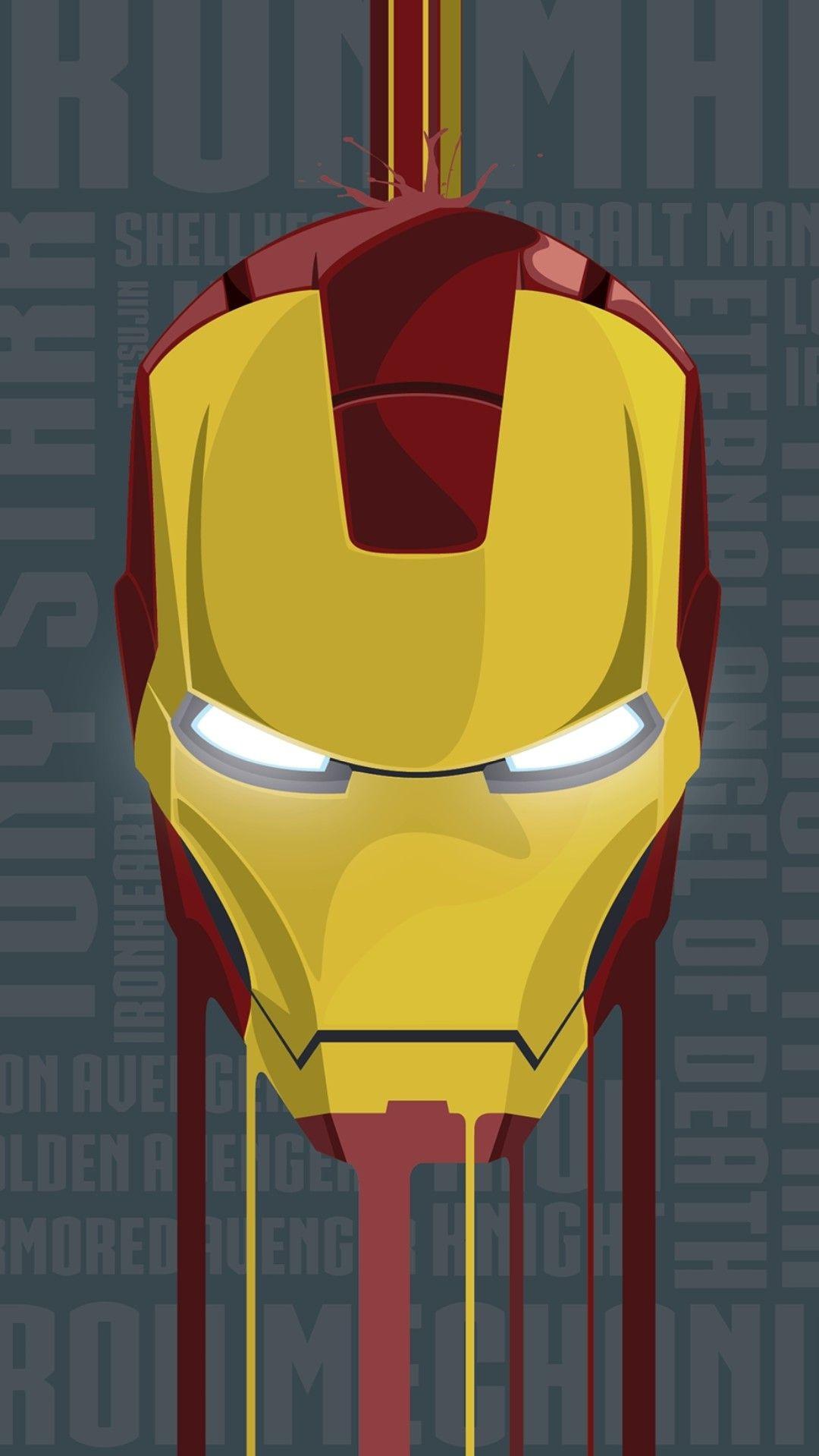 Iron Man Face Armour Suit iPhone Wallpaper iphoneswallpapers com