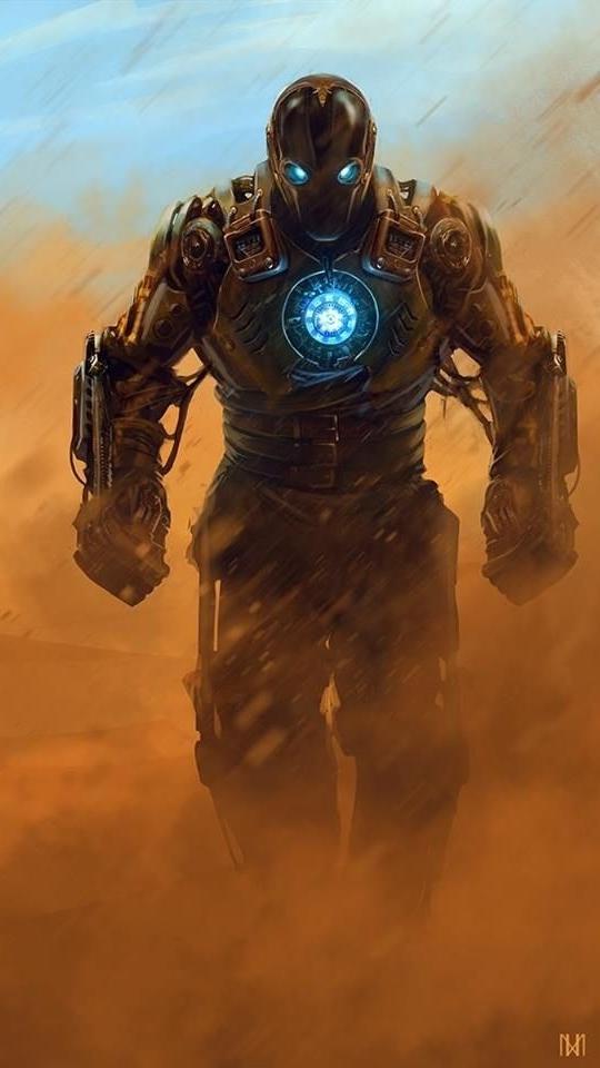 Iron Man First Generation Armour iPhone Wallpaper iphoneswallpapers com