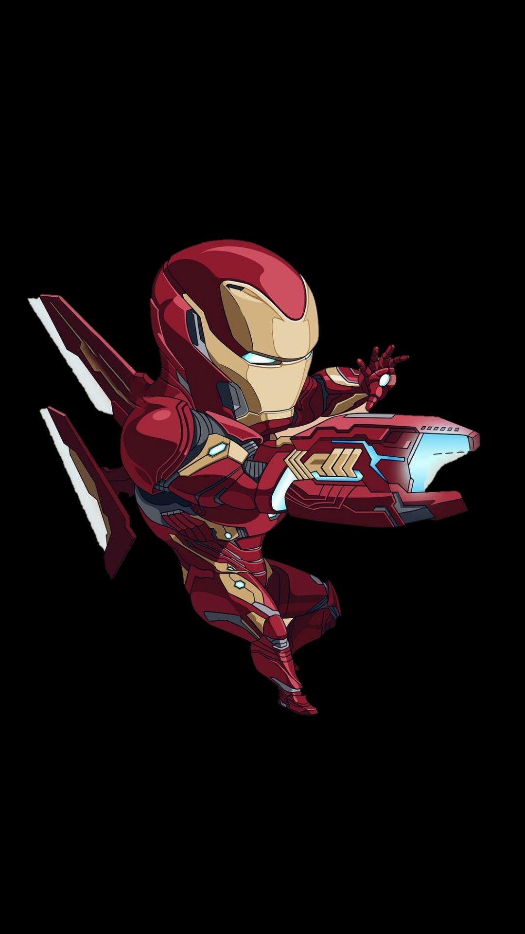 Iron Man Infinity War Minimal iPhone Wallpaper iphoneswallpapers com
