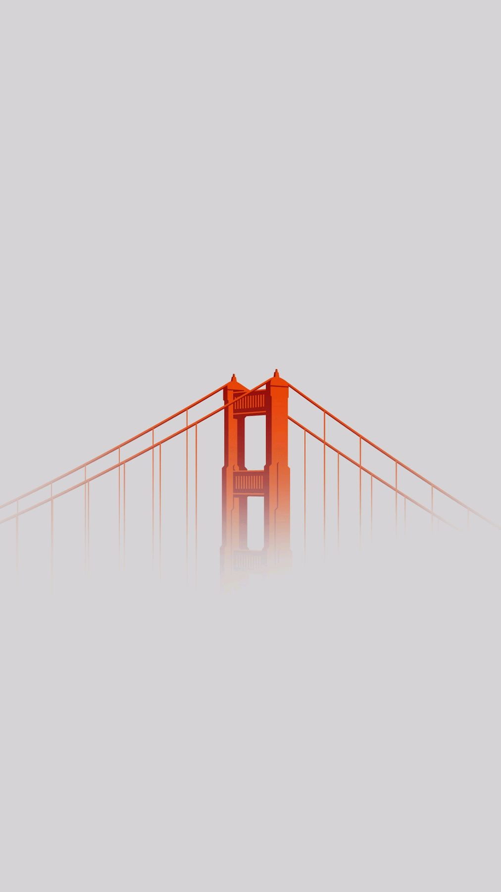 Minimal Golden Gate Bridge iPhone Wallpaper iphoneswallpapers com