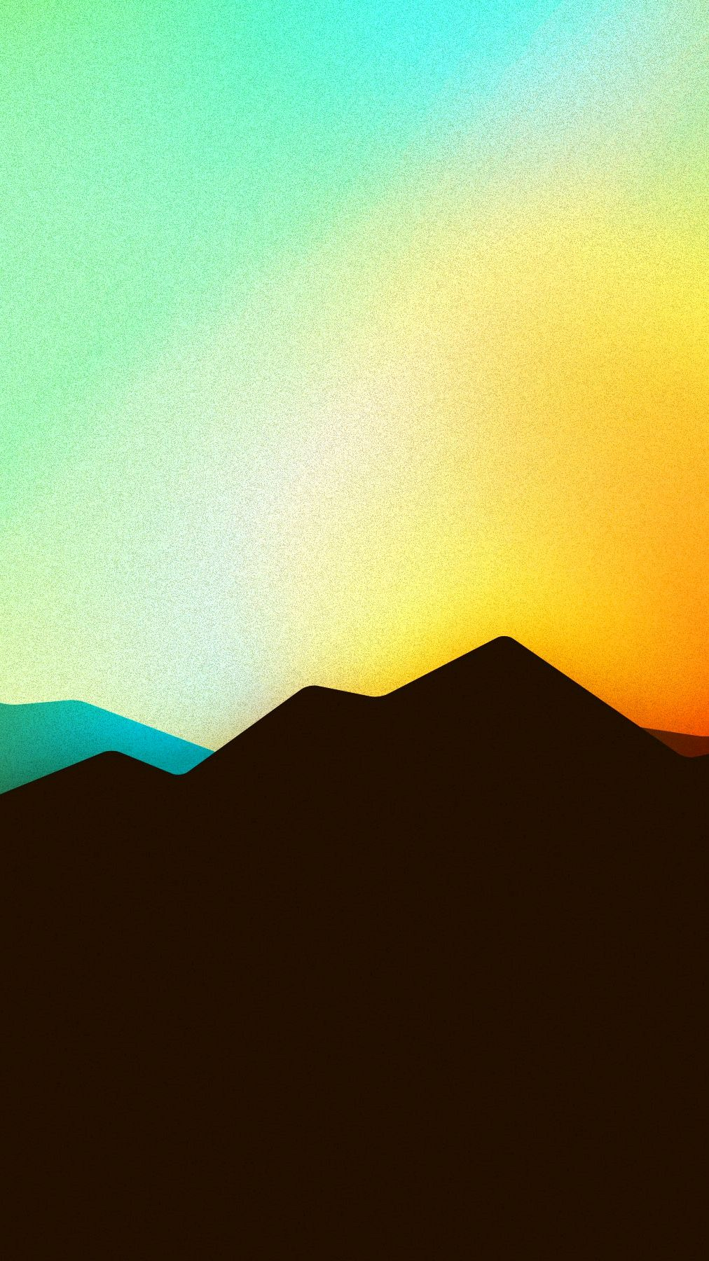Minimal Mountain Sunrise iPhone Wallpaper iphoneswallpapers com