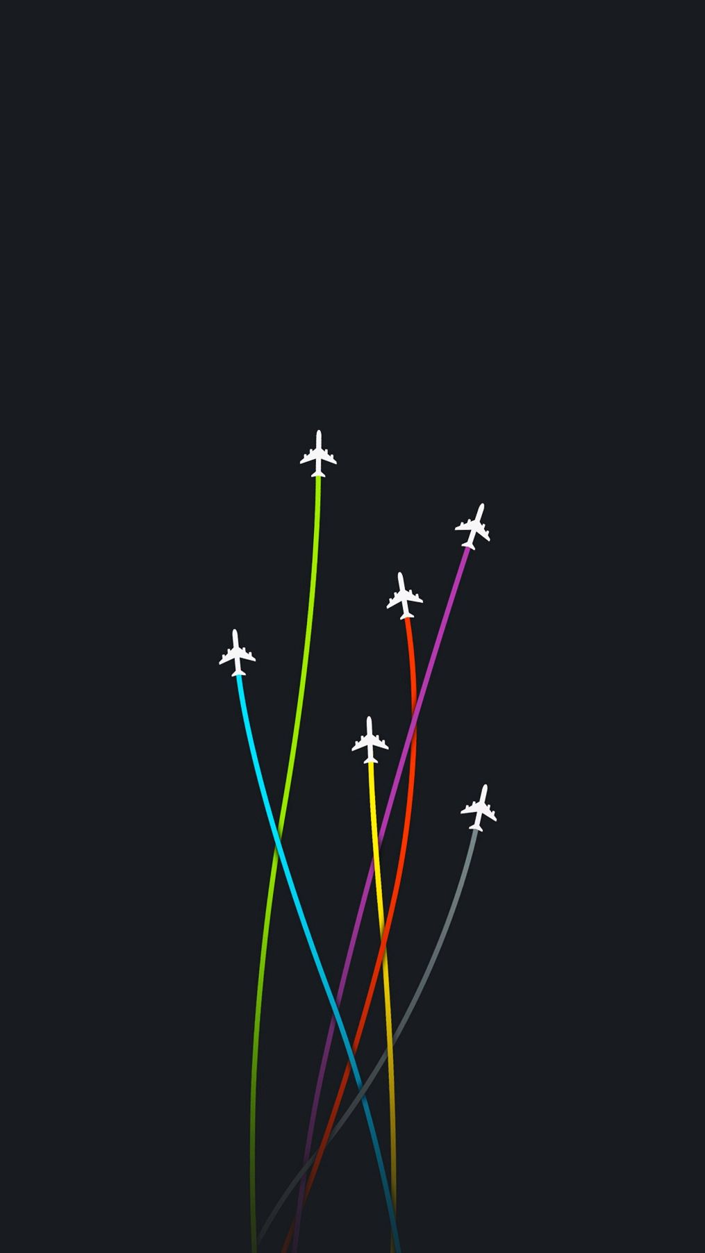 Minimal Planes Artwork iPhone Wallpaper iphoneswallpapers com