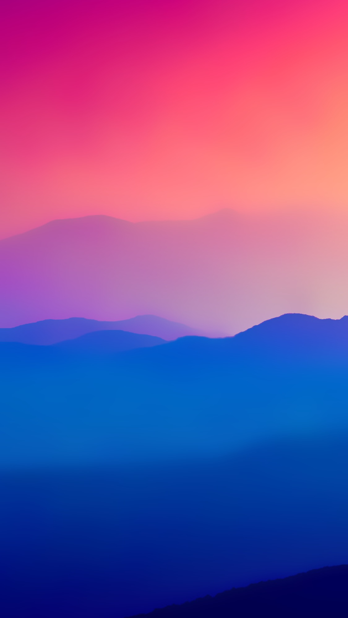 Mist Mountains Colorful iPhone Wallpaper iphoneswallpapers com