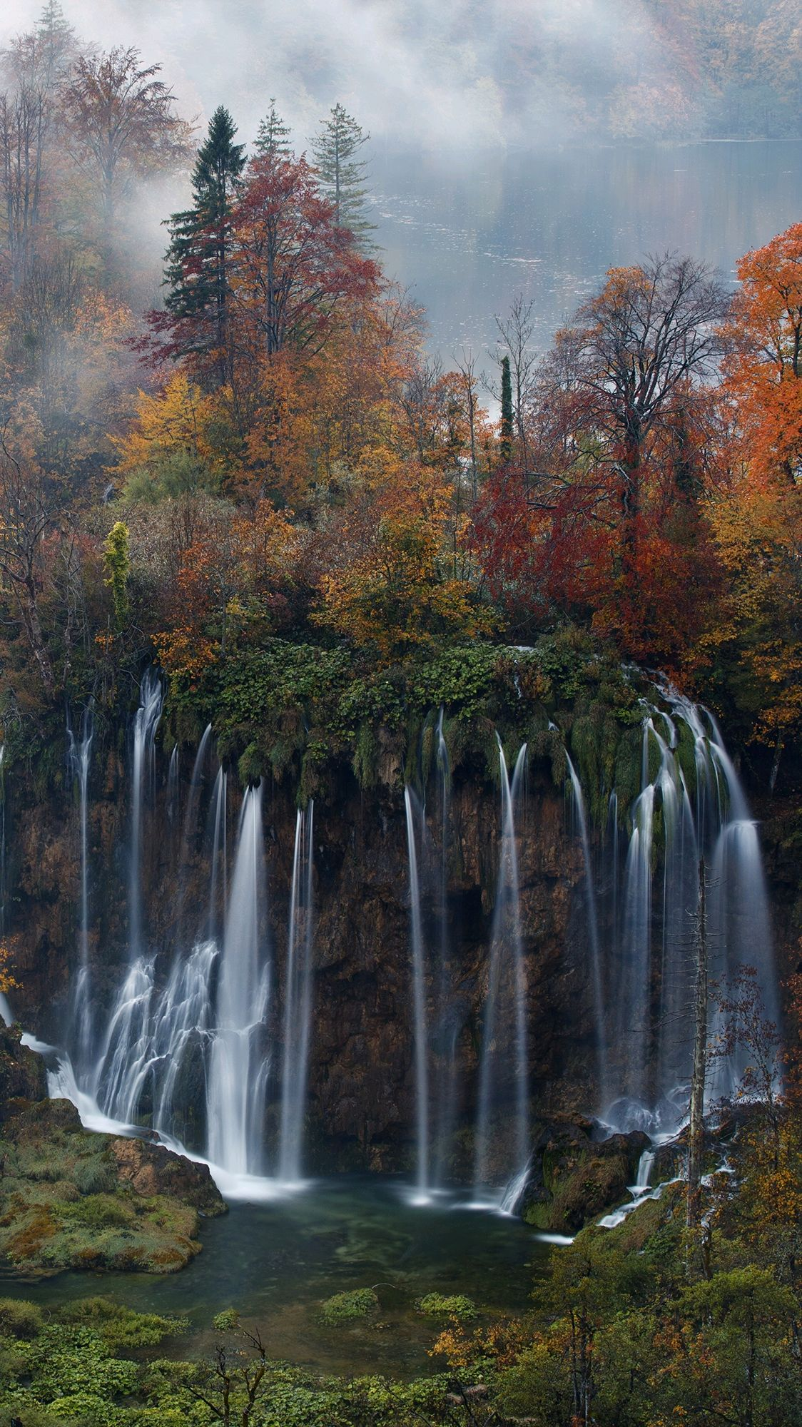 Plitvice Lakes National Park Waterfalls iPhone Wallpaper iphoneswallpapers com