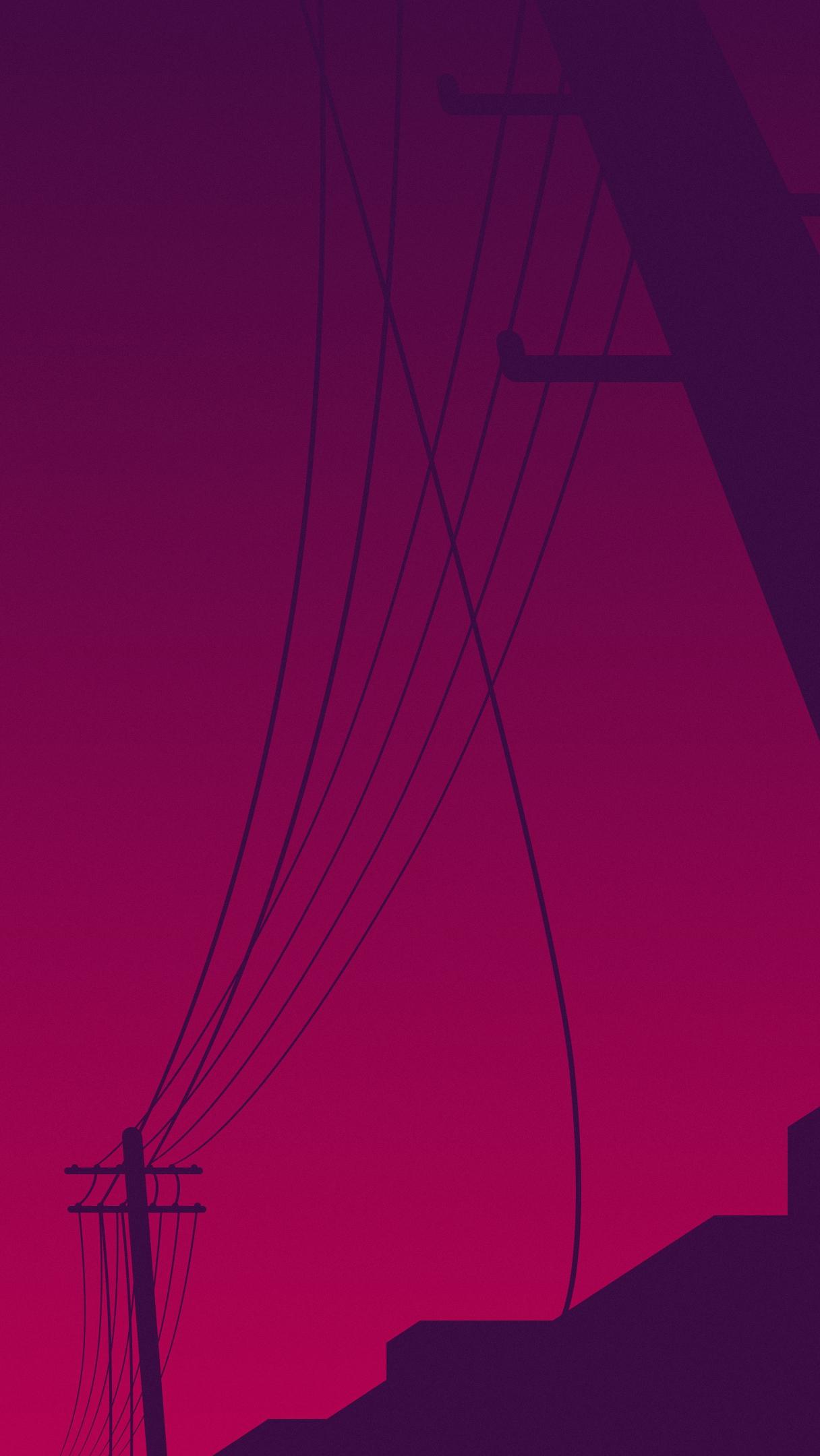 Purple Sky Towers iPhone Wallpaper iphoneswallpapers com
