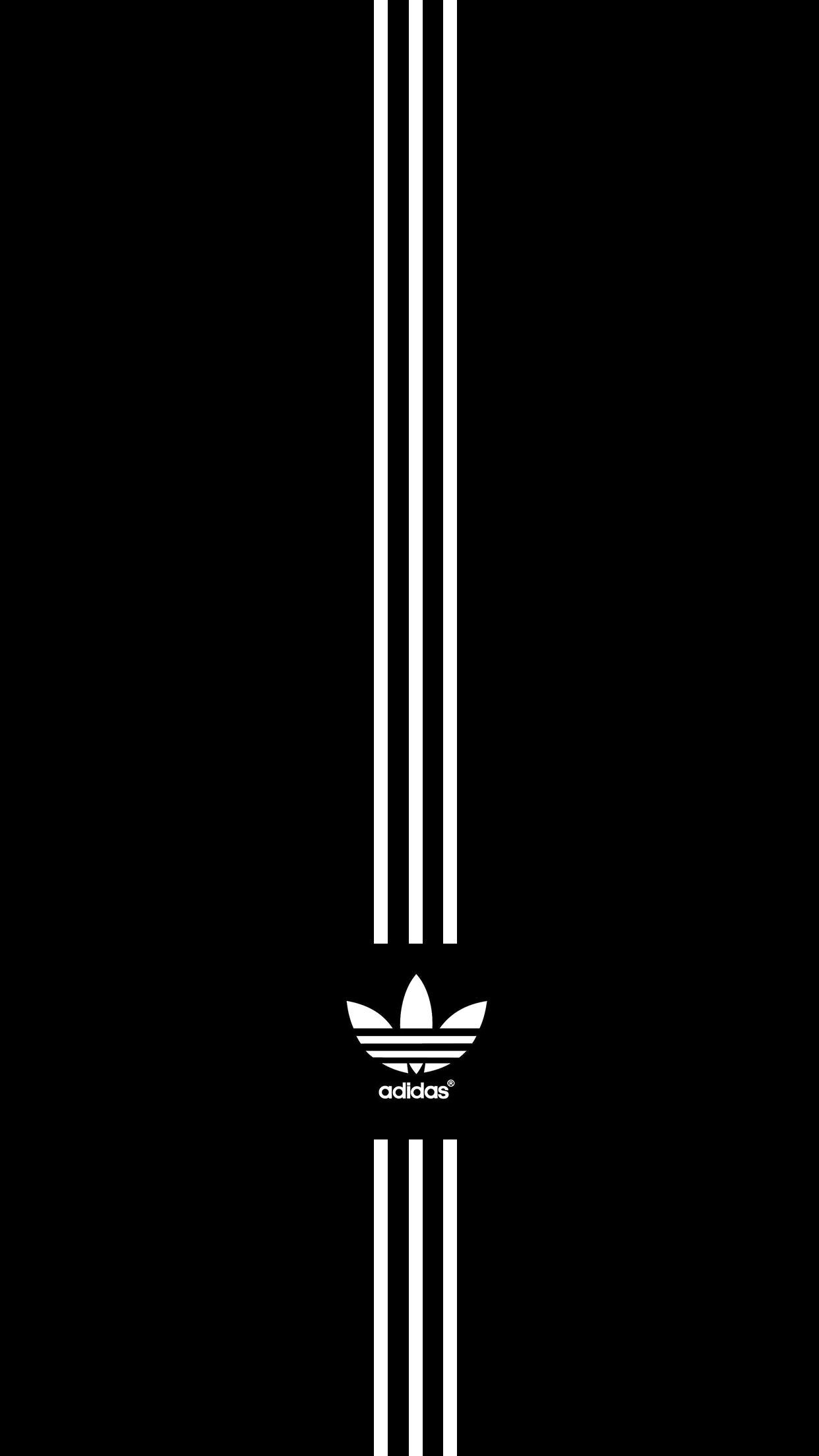 Adidas All Black iPhone Wallpaper