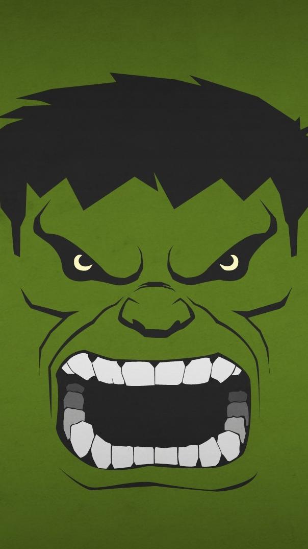 Angry Hulk Minimal iPhone Wallpaper