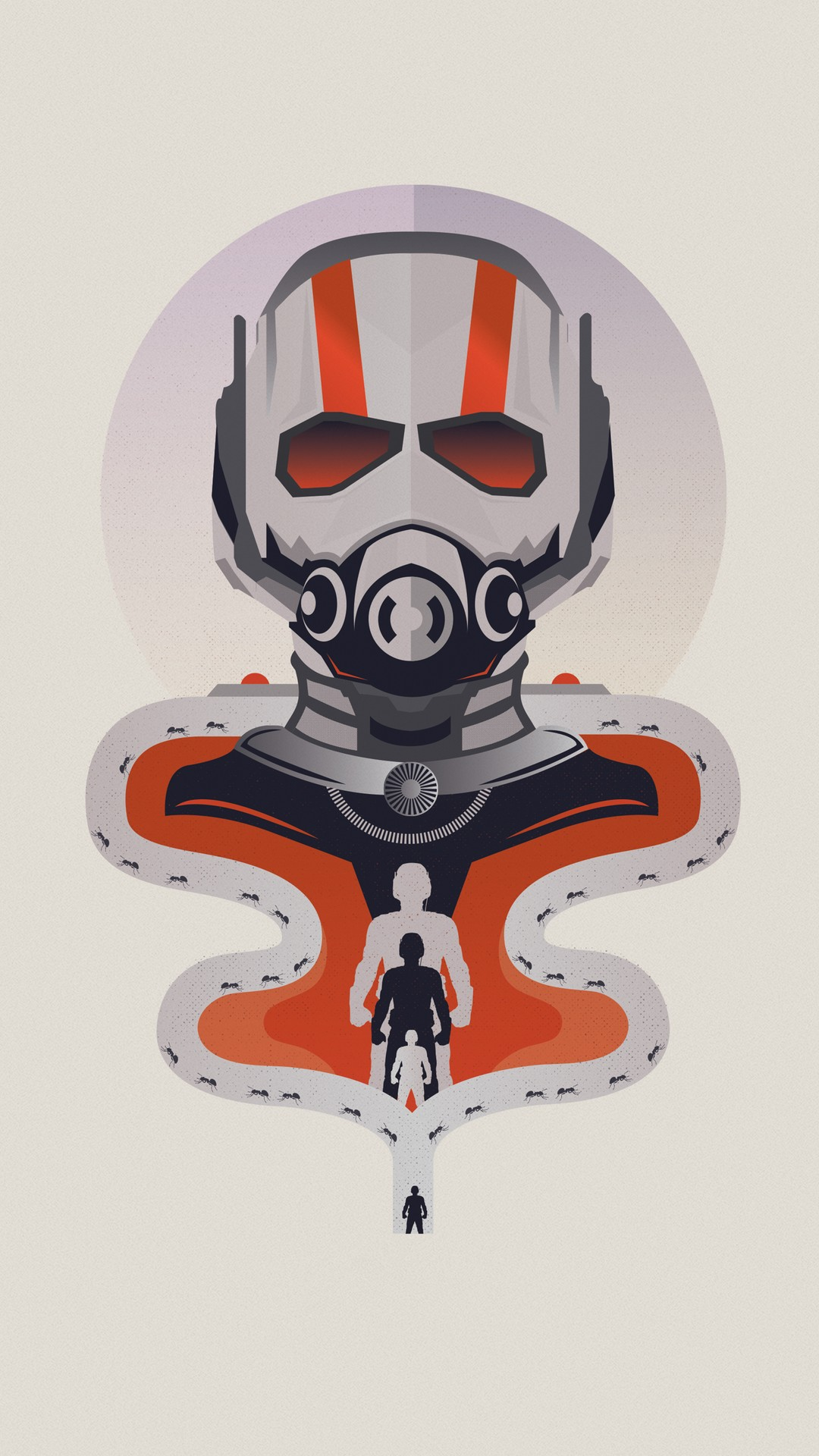 Ant Man Minimal iPhone Wallpaper