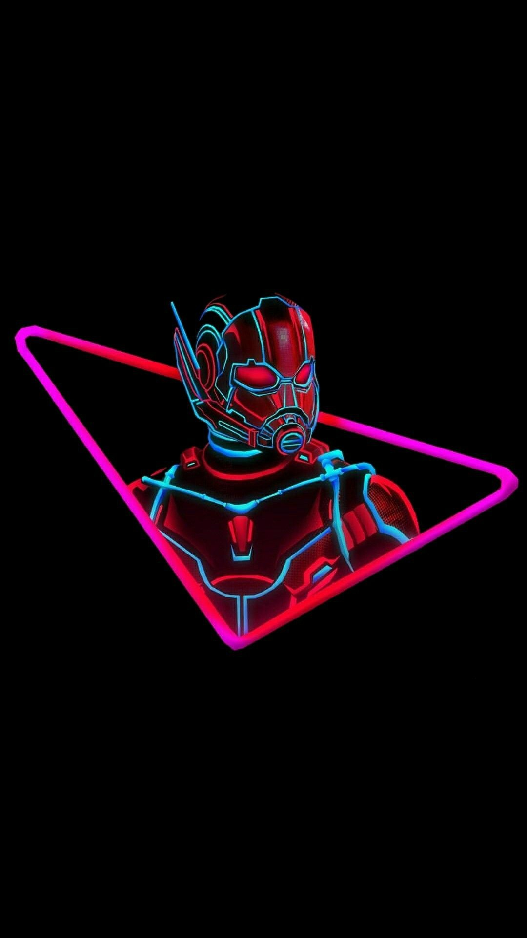 Ant Man Neon iPhone Wallpaper