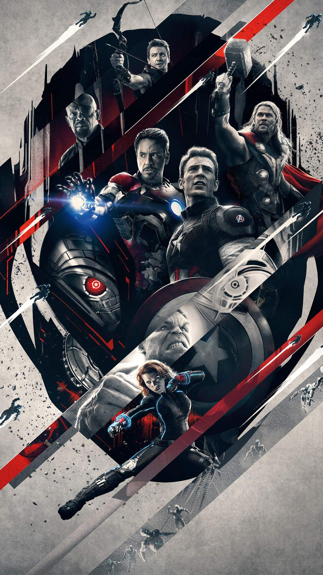 Avengers age of ultron Superheroes iPhone Wallpaper