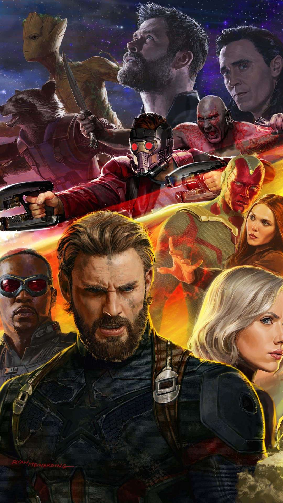 Avengers infinity war Superheroes iPhone Wallpaper